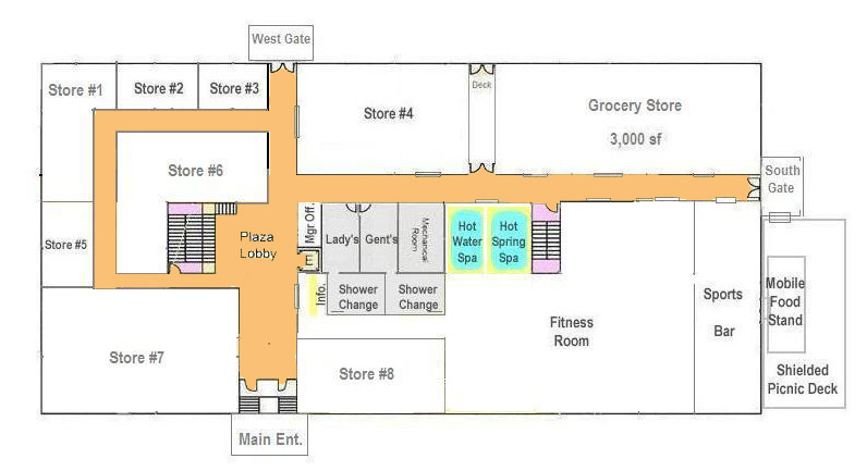 Ground Floor: 20,000 Sq. Ft. (200ft X 100ft) For Retail Stores, Financial  Offices Or Commercial Service