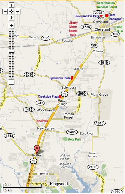 Map Of Texas Highway 59.Greater Houston On Hwy 59 N